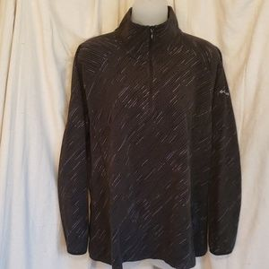 COLUMBIA 3/4 ZIP Striped Black Pullover XL